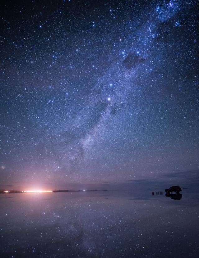 ウユニ塩湖 星空 画像