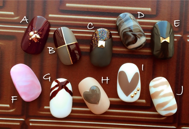 チョコレート ネイル 画像